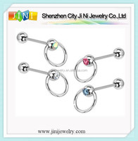 slave barbell door knocker tongue bar ring body piercing jewelry