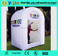 Selling 2015 cheap play inflatable money booth