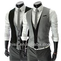 The 2014 gentlemen must leave two men's slim vest Y411-BM06