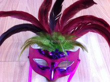 wholesale party masquerade masks with stick/half face masquerade masks MSK26