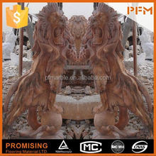 latest natural best price marble made garden eagle sculptures