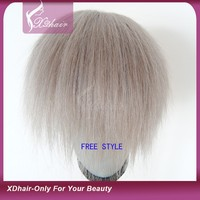 Wholesale Supplier in China High Quality Cheap Natural 100% Human Hair Remy Virgin Human Hair Toupee for Men and Women