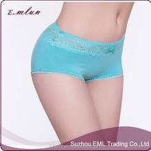 women middle waist plus size solid sexy mature lace seamless boyshot panties/women boyshort underwear/sports boyshorts