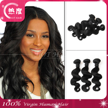 Grade 7a factory wholesale price peruvian virgin body wave hair weft