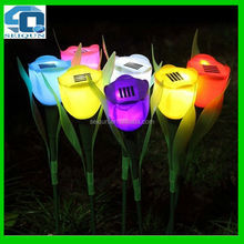 hot stick tulip flower light decoration led solar garden light , LED garden solar light , led garden light
