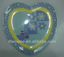 melamine heart shaped kid's plate