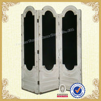 Hot Saling Antique white wooden room divider with blackboard