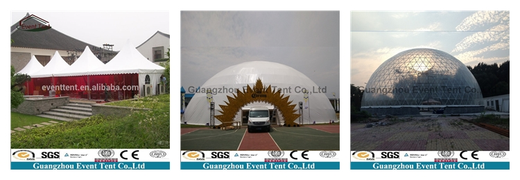 Длительный срок службы желтый цвет открытый шатер партии навес алюминиевая рама палатки для museaum