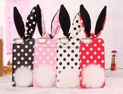 Luxury Cotton polk dot For iPhone 6 plus Rabbit Case