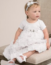 cheap china wholesale clothing baby party dresses white lace ruffle kids wear