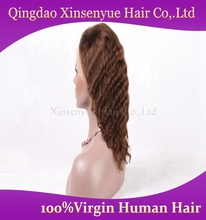 Wholesale Indian remy hair lace front wig 100% human hair Italian wave