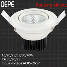 Innovative chinese products led downlight 20w led cob downlight for car showroom lighting cob led recessed downlight