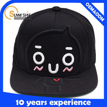 Children Kids Embroidered Happy Cartoon Snapback Cap Hatcustom cotton 3D baby snapback cap