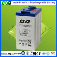 Sealed Lead Acid Battery 2V 500Ah solar system and telecom system