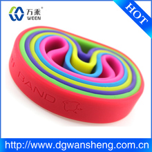 factory customized silicone rubber bracelet, silicone bracelet band glow in the dark