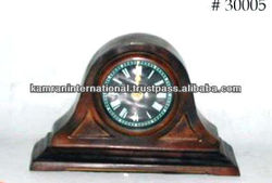 Antique brass table clock, decorative table clock, fancy table clock