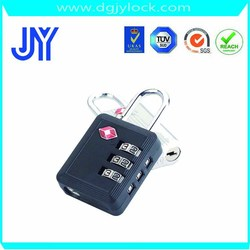 Factory wholesale high quality TSA007 3 digit cheap bag luggage padlock factory price