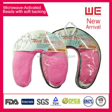 Microwavable Heated Neck Wraps with Microwave Activated Beads