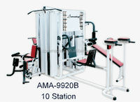 Multi station gym equipment can be used for 10 persons guangzhou fitness equipment manufacturer AMA9920B
