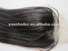 2012 hot selling,130% density, 4x4,color1b,yaki straight,100% brazilian human hair,lace front closure