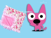 Fashion design cotton satin baby blanket for sale