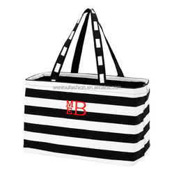 New Arrival monogrammed fashion Large utility tote bag