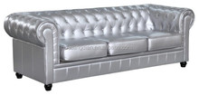 3 seat cheap ikea chesterfield leather sofa for living room SF7046