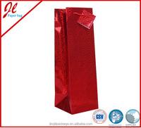Red Laser Liquor Bottle Paper Bags
