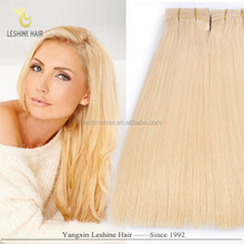 2015 new design top sell brand name remy double weft double drawn humain hair blond