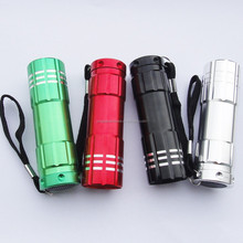 10 years experience for 9 LED aluminum torch