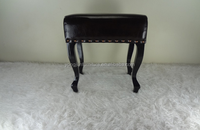Latest Dressing Room Sitting Stool Brown Color Small Square Stool