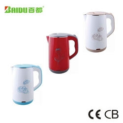 Baidu Mid Asia Double Layer Anti Scald Electric Hot Tea Kettle Wholesale In China