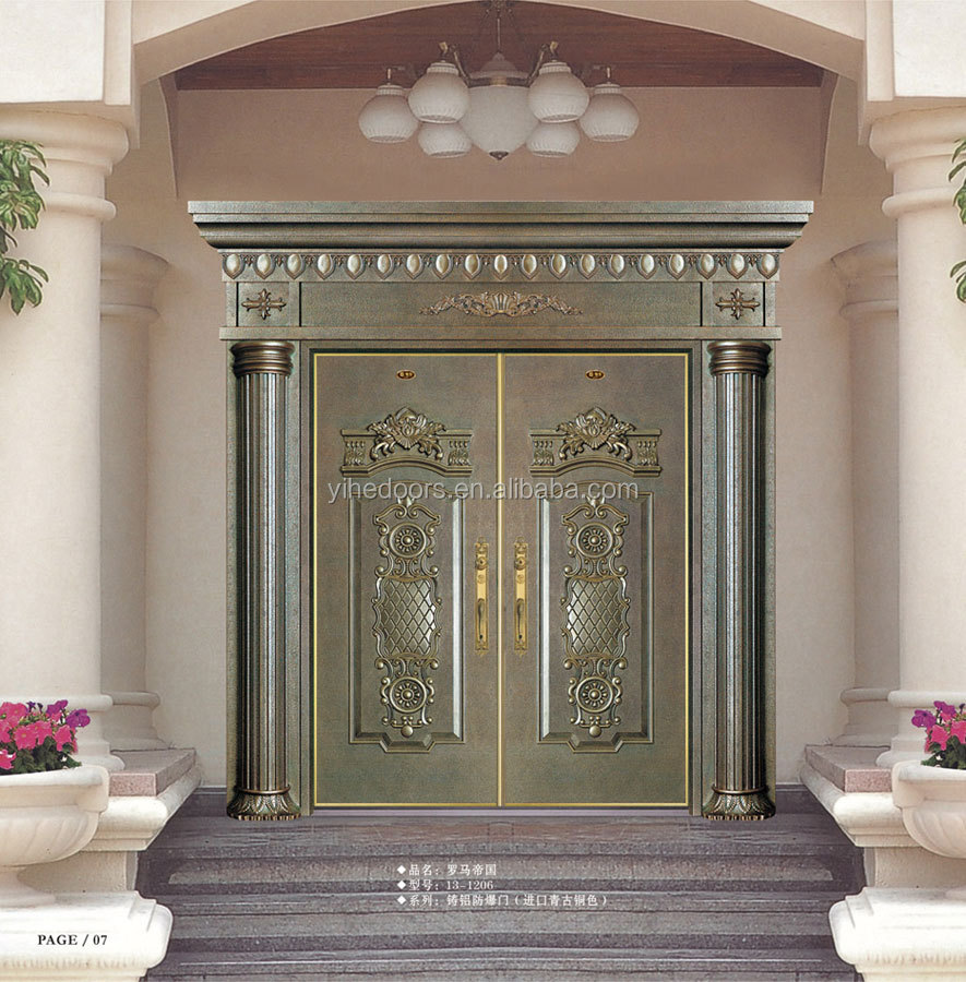 Modern main door design super size stainless steel for Main entrance double door design