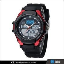 3 atm water resistant watches men, double movement digital watch