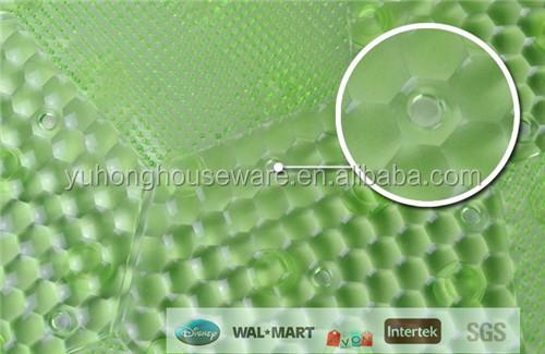 Round plastic bath mat
