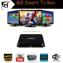 Factory direct sales M8 Amlogic s802 Quad Core ott tv box