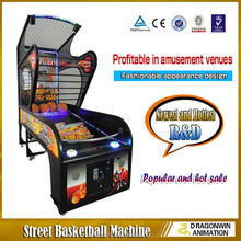 amusement coin operated indoor electronic arcade Luxury Street Basketball Game Machine