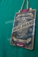 clothing hang tag Kraft Paper+Silk Screen Print+Distressed+Canvas+Punch Hole+Hemp Rope+Metal Eyelet+White Card Paper Printed