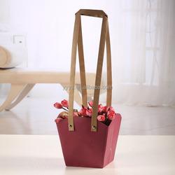 Kraft paper bag paper waterproof bag for flower packaging