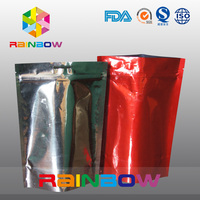 Aluminum foil bag for protein powder packaging doypack with zipper and Euro slot
