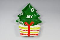novelty christmas plate,decorative christmas plates,white christmas tree plates