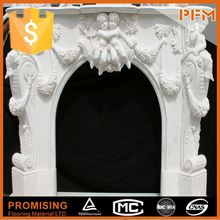 natural marble hand made free standing cast iron wood burning fireplace