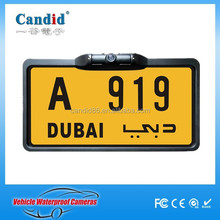 New design License Frame Plate Rear view Camera for Dubai cars