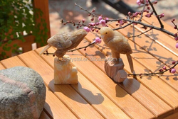 colorful garden gift crystal craft birds for decoration,mini crystal craft