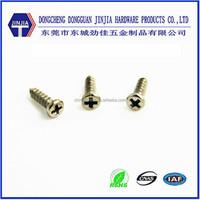 China manufacture fasteners m1x4 ROHS ni plated pan head screw