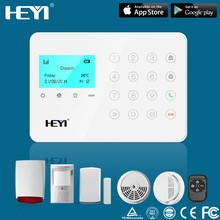 2015 china Home Security Wireless alarm GSM Touch Screen Alarm Host