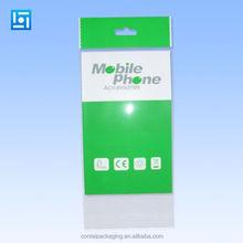 customized printing opp bopp mobile phone accessories case plastic packaging bags /opp header plastic bag/self adhesive poly bag