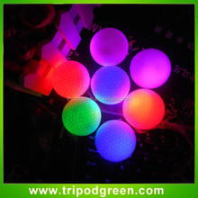 Online cheap led golf balls,led lighting balls flashing in night with beautiful light