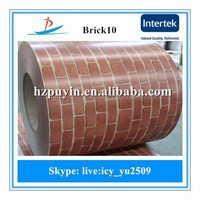BRICK paint coatings design ppgi with best quality used in build and roofing material made by steel manufactury in China