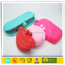 2015 cute colorful fish shaped silicone coin purse,silicone bag fish,silicone rubber change clutch bag with zipper